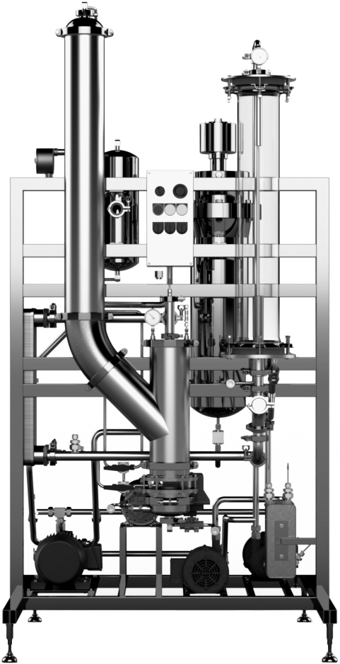 Falling Film Evaporator Rendered Front View